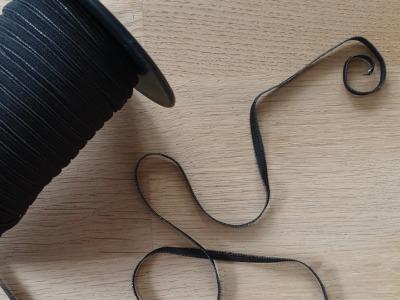 5m Gummiband 4mm schwarz Perfekt für