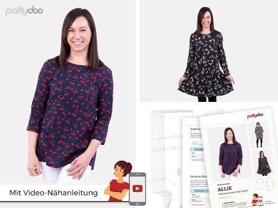 Schnittmuster Bluse Kleid Allie/ pattydoo