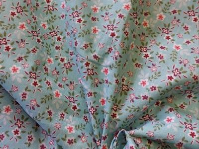 Baumwolle Blumen mint Streublümchen