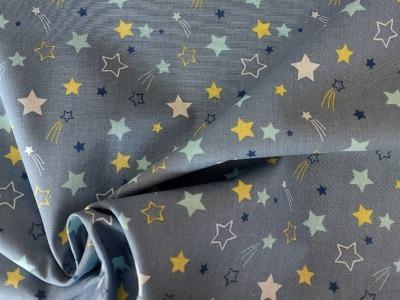 Baumwolle Sterne rauchblau