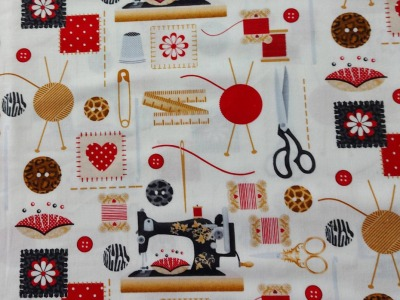 Patchworkstoff Sewing mends the soul von
