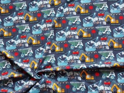 Jersey Bagger Laster Baufahrzeuge blau