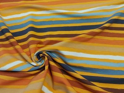 French Terry Streifen gelb bunt Ringel