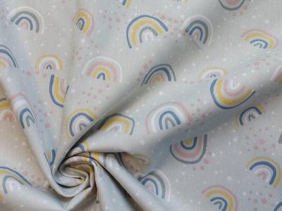 Baumwolle Baumwolle Regenbogen mintgrün