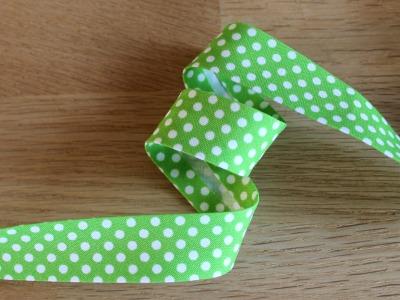 1m Schrägband Punkte 18mm grün