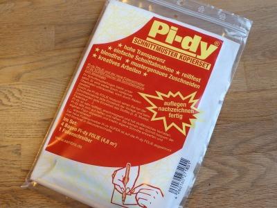 Pi-Dy Schnittmuster Kopierset inkl. Stift - unverzichtbares Hilsmittel zur Schnittabnahme