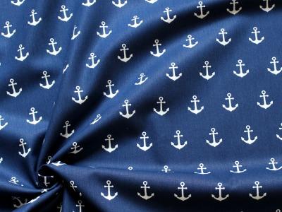 Baumwolle Anker blau
