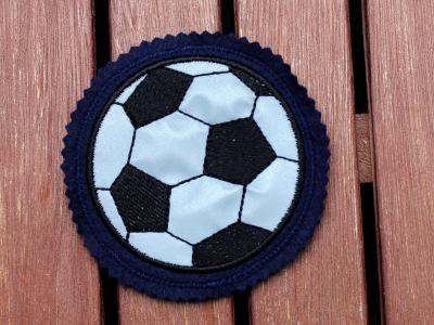reflektierender Klett Patch für Schulranzen Fußball
