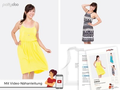 Schnittmuster Kleid Coco/ pattydoo Trägerkleid