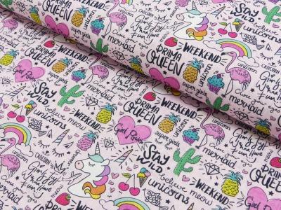 Baumwolle Baumwolle Baumwolle Einhorn Regenbogen Flamingo