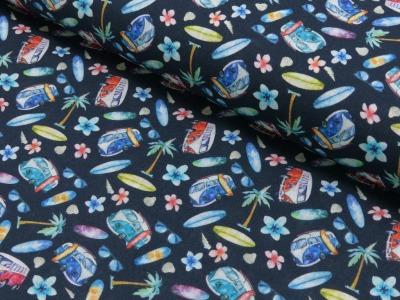 Baumwolle Bulli dunkelblau