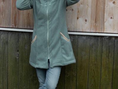 Doubleface Fleece Tamme 1450 Eur/m smaragd