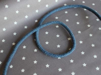 2m Kordel Hoodie Kapuzenpulli 8mm dick blau