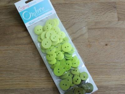 90 Knöpfe Farbverlauf Knopf Set grün