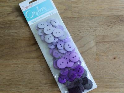 90 Knöpfe Farbverlauf Knopf Set lila