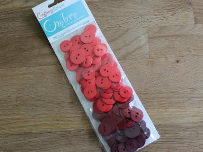 90 Knöpfe Farbverlauf Knopf Set rot
