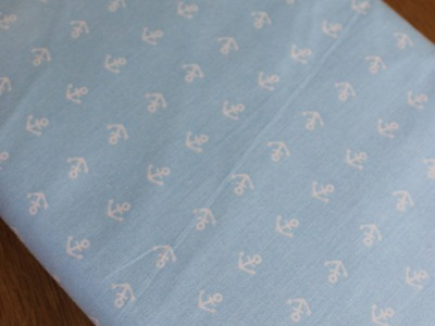Baumwolle Anker hellblau