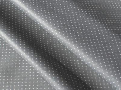Beschichtete Baumwolle Punkte grau