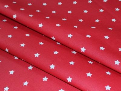 Beschichtete Baumwolle Sterne rot