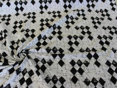 Jersey geometric schwarz- weiß