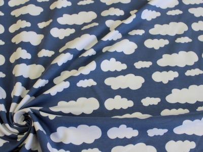 Jersey Wolken Swafing Verena jeansblau