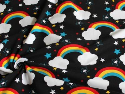 Jersey Regenbogen schwarz