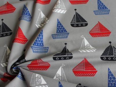 Jersey Boote maritim grau
