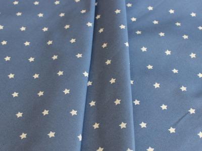 Beschichtete Baumwolle Sterne jeansblau