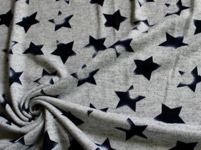Strick Sterne grau
