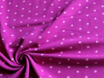 Jersey rosa Punkte auf pink