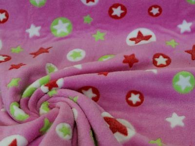 Fleece Sterne Kuschelfleece rosa