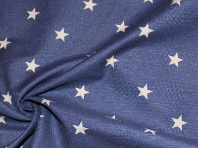 Dekostoff Taschenstoff Sterne blau