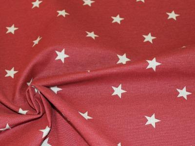 Dekostoff Taschenstoff Sterne rot
