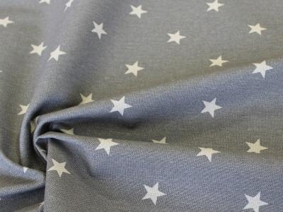 Dekostoff Taschenstoff Sterne grau