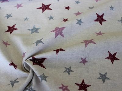 Dekostoff Taschenstoff Sterne beige