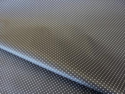 Beschichtete Baumwolle Punkte dunkelgrau