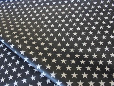 Beschichtete Baumwolle Sterne schwarz