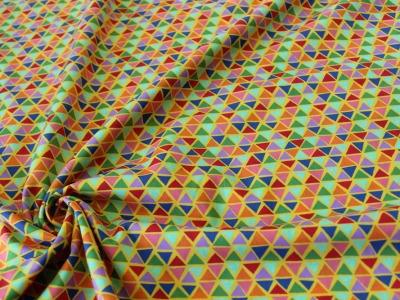 Baumwolle Dreiecke Triangle gelb bunt