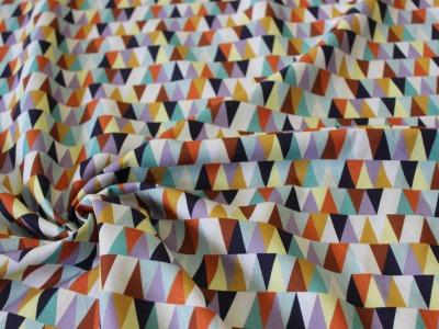 Baumwolle Dreiecke Triangle lila bunt