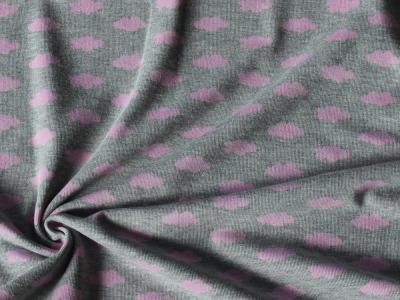 Baumwollstrick Wolken Strickstoff Wolke rosa
