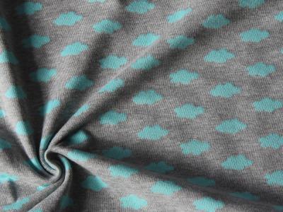Baumwollstrick Wolken Strickstoff Wolke mint