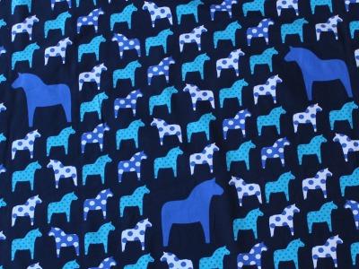 Jersey Vicente retro Dala Pferde blau