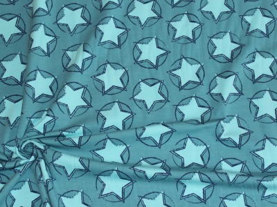 Organic Baumwoll Jersey Druck Stars In The Middle