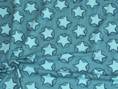 Organic Baumwoll Jersey Druck Stars In