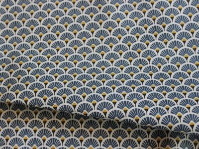 Beschichtete Baumwolle Ornamente blau