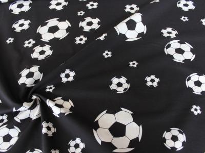 Baumwolle Fussball Fußball schwarz