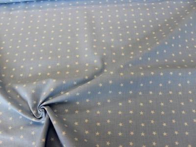 Baumwolle Sterne hellblau weiß
