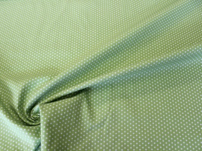 Baumwolle kleine Sterne grün weiß
