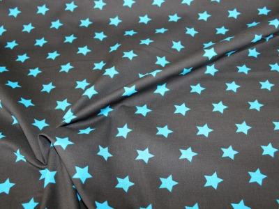Baumwolle große Sterne schwarz blau