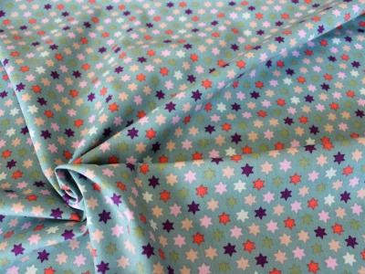 Baumwolle Sterne mint bunt